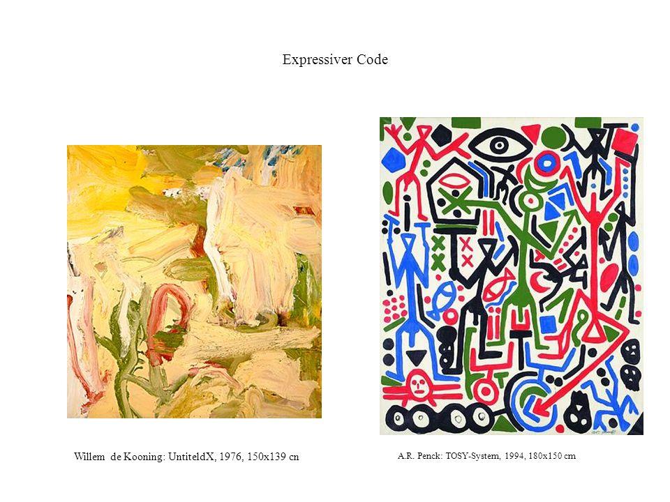 Expressiver Code Willem de Kooning: UntiteldX, 1976, 150x139 cn