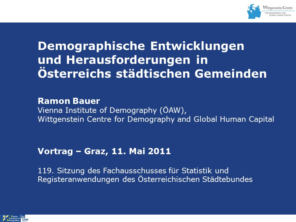 Demographische Entwicklungen und Herausforderungen in
