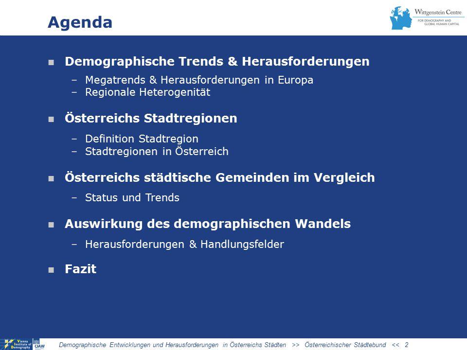 Agenda Demographische Trends & Herausforderungen