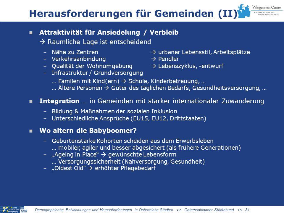 Herausforderungen für Gemeinden (II)