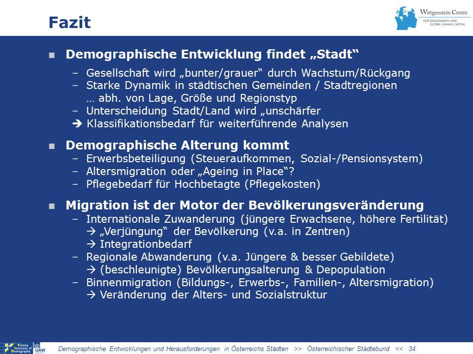 """Fazit Demographische Entwicklung findet """"Stadt"""