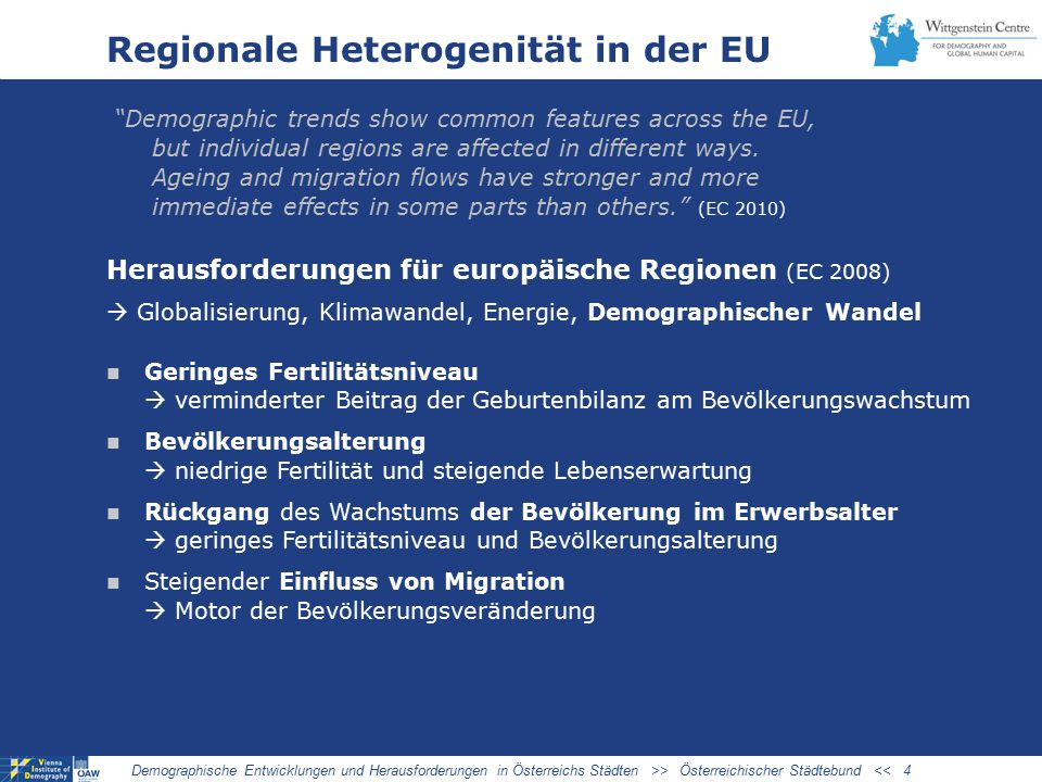 Regionale Heterogenität in der EU