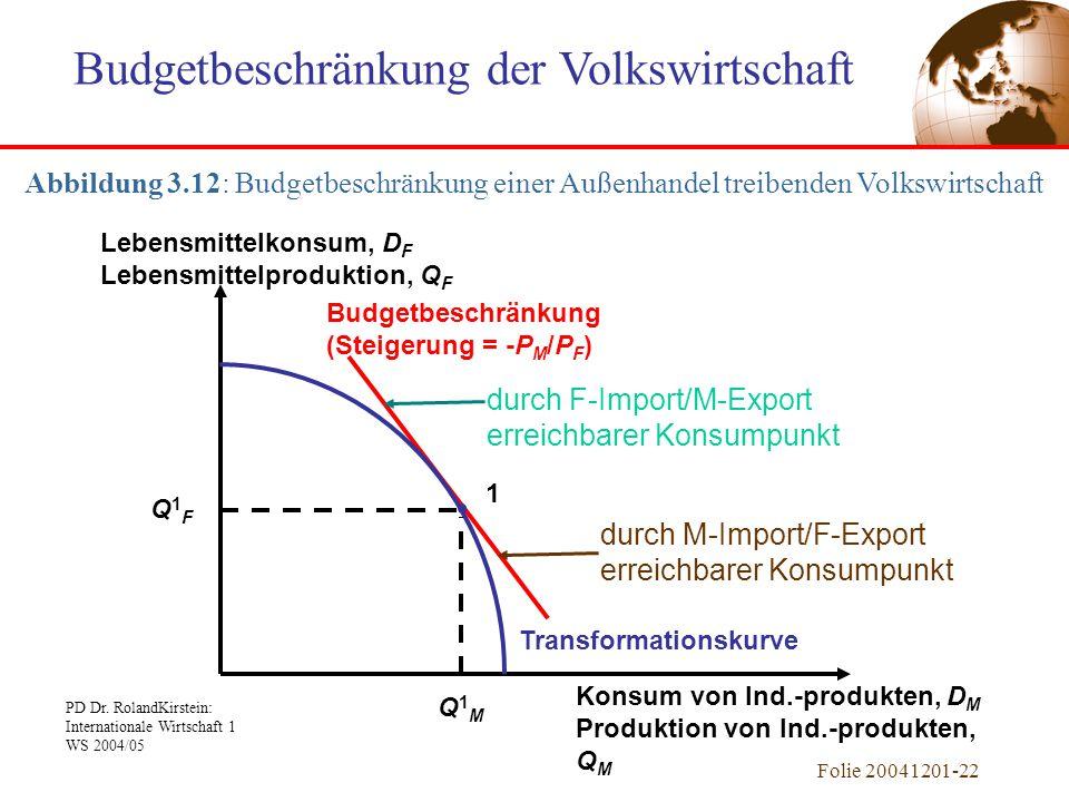 Budgetbeschränkung der Volkswirtschaft