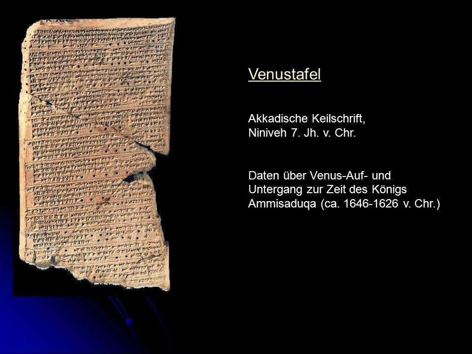 Venustafel Akkadische Keilschrift, Niniveh 7. Jh. v. Chr.