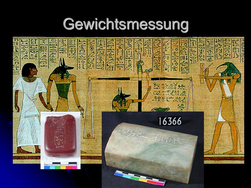 Gewichtsmessung Waagebalken aus Ägypten ca. 5000 v. Chr. (vordynastische Zeit)