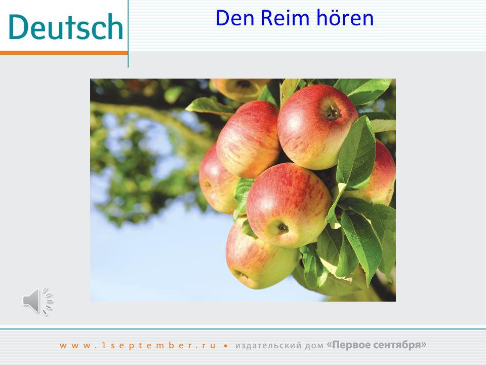 Den Reim hören Das Bild ist entnommen aus: www.shutterstock.com