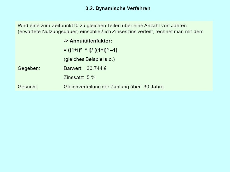 3.2. Dynamische Verfahren
