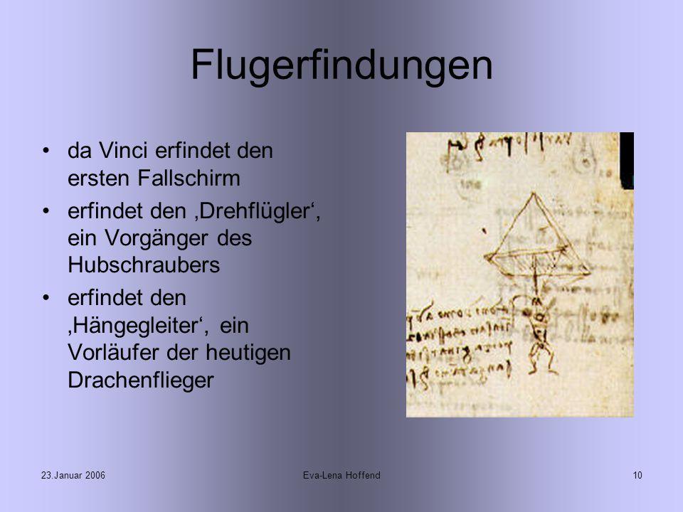 Flugerfindungen da Vinci erfindet den ersten Fallschirm