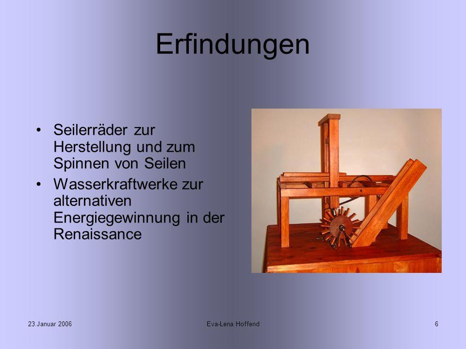 Erfindungen Seilerräder zur Herstellung und zum Spinnen von Seilen