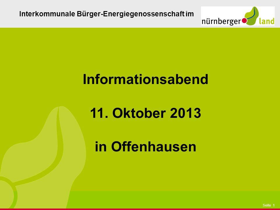 Informationsabend 11. Oktober 2013 in Offenhausen