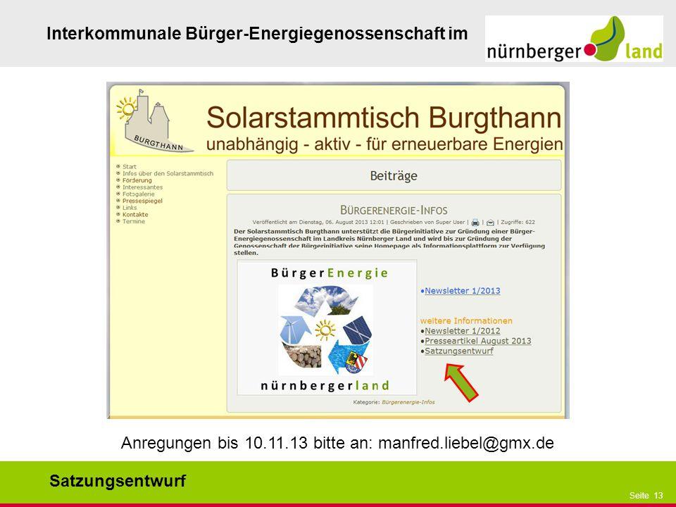 Anregungen bis 10.11.13 bitte an: manfred.liebel@gmx.de