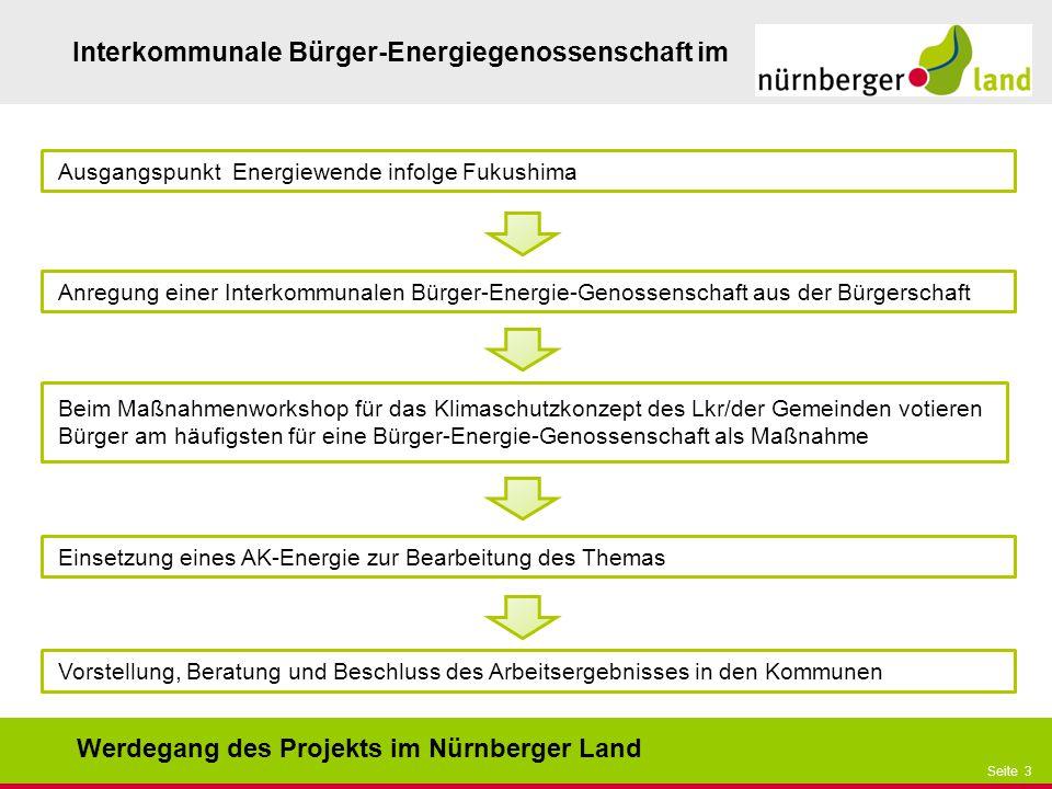 Werdegang des Projekts im Nürnberger Land