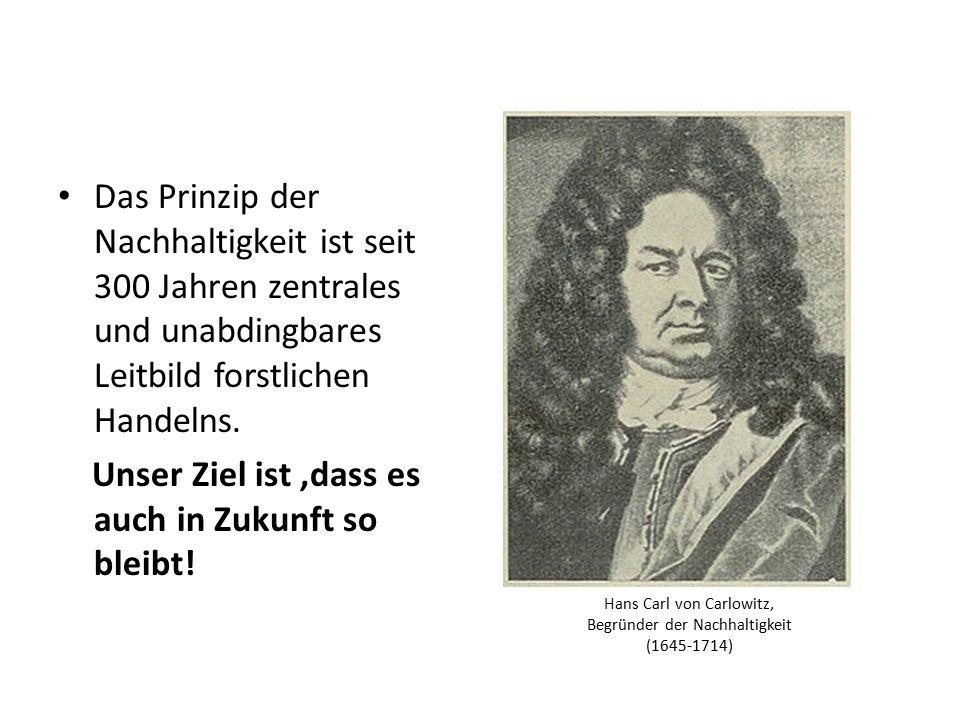 Hans Carl von Carlowitz, Begründer der Nachhaltigkeit (1645-1714)