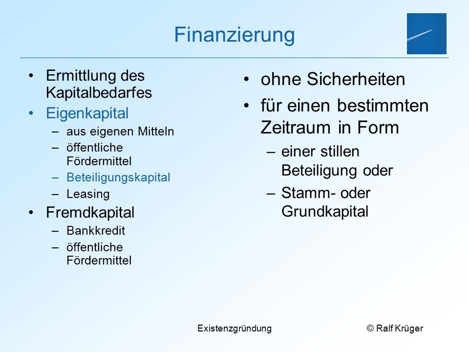 Finanzierung ohne Sicherheiten für einen bestimmten Zeitraum in Form