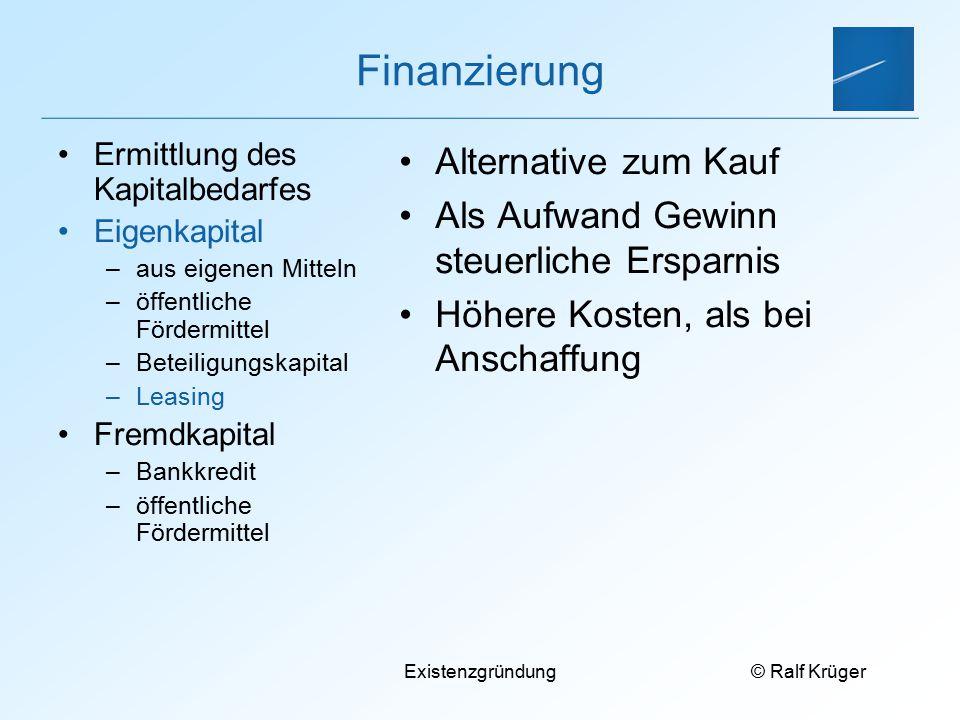 Finanzierung Alternative zum Kauf