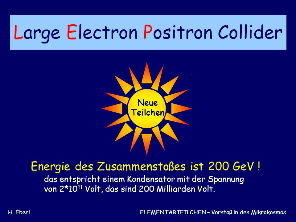 Large Electron Positron Collider