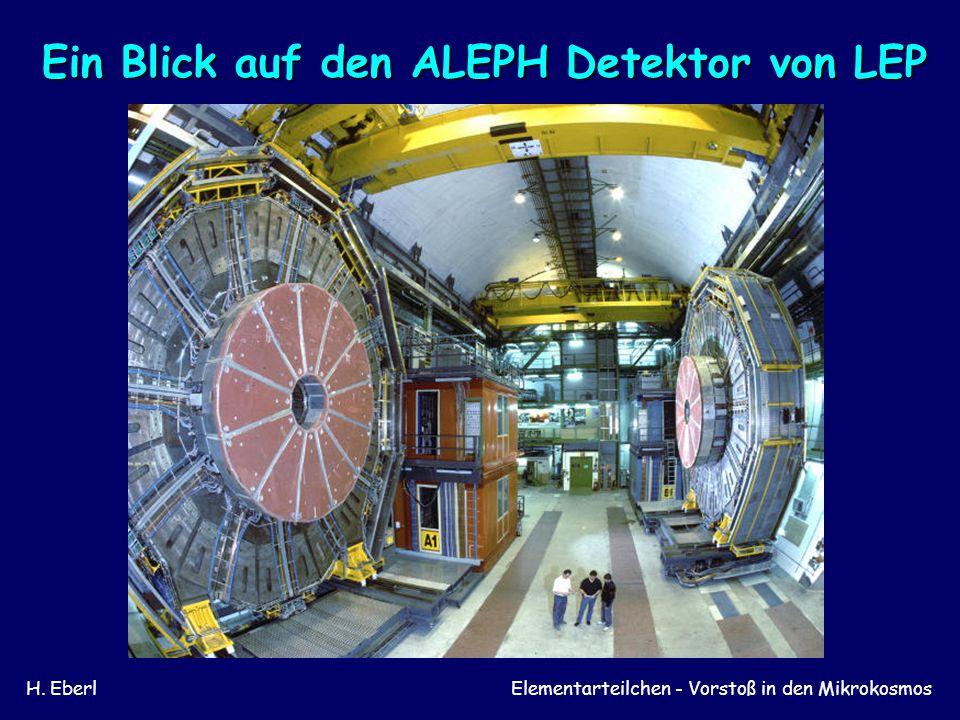 Ein Blick auf den ALEPH Detektor von LEP