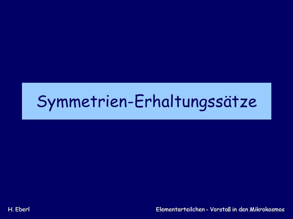 Symmetrien-Erhaltungssätze