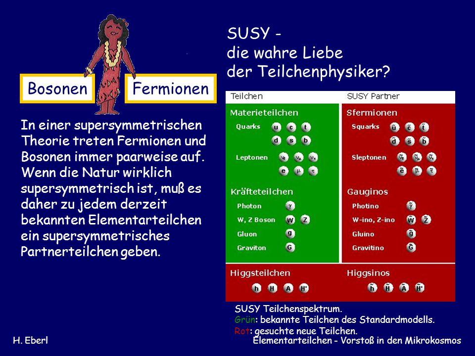 SUSY - die wahre Liebe der Teilchenphysiker Bosonen Fermionen