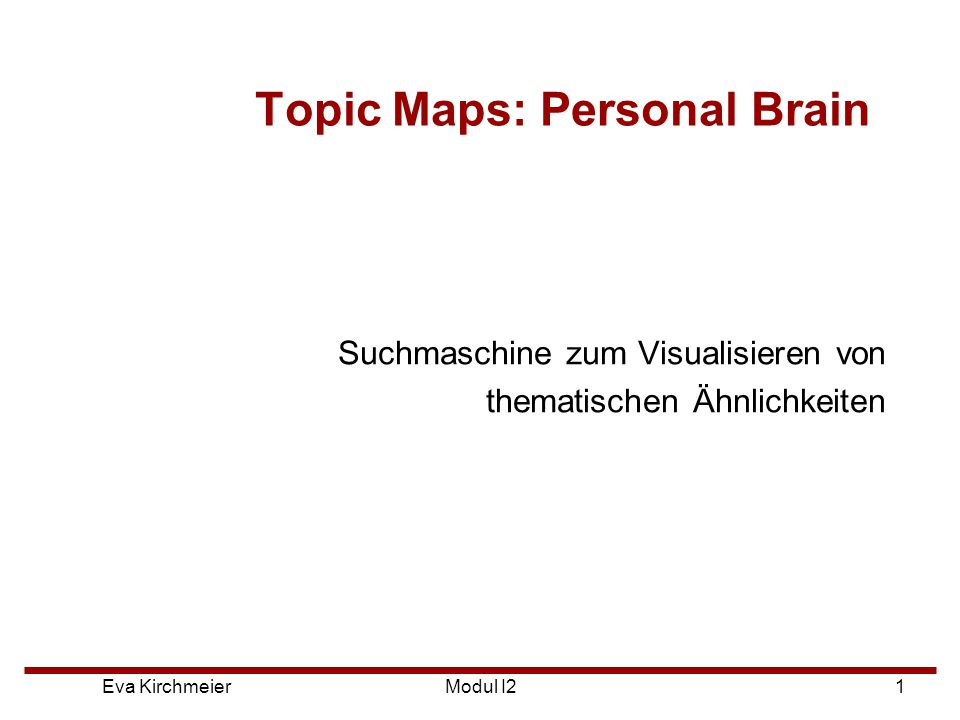 Topic Maps: Personal Brain