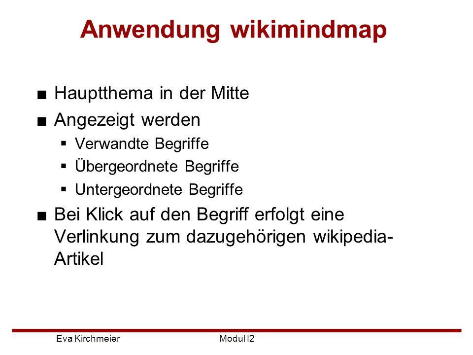 Anwendung wikimindmap