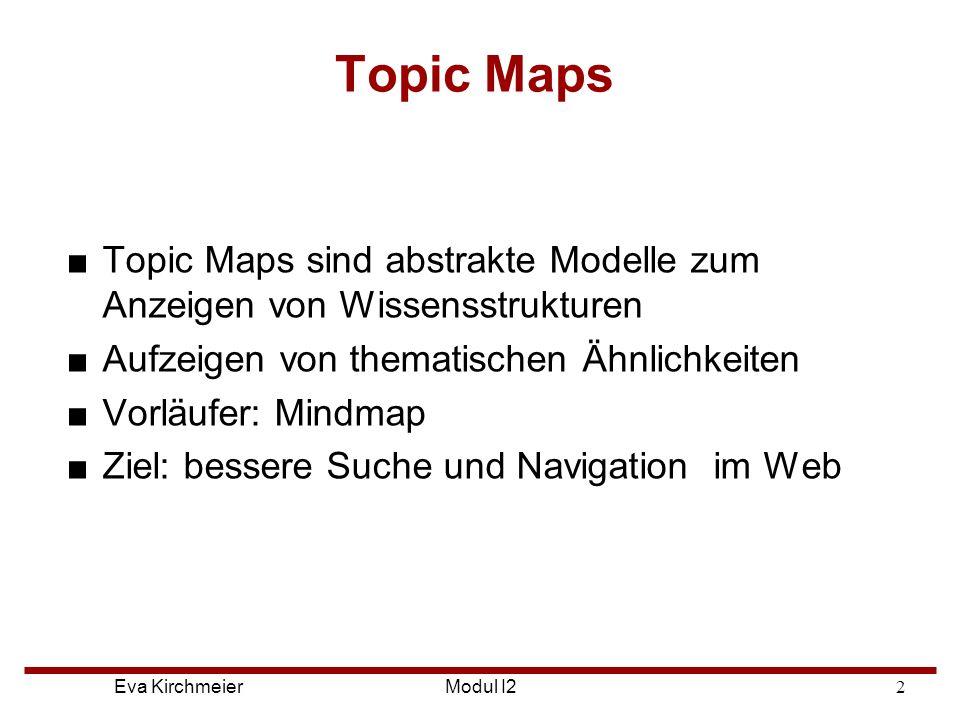 Topic Maps Topic Maps sind abstrakte Modelle zum Anzeigen von Wissensstrukturen. Aufzeigen von thematischen Ähnlichkeiten.