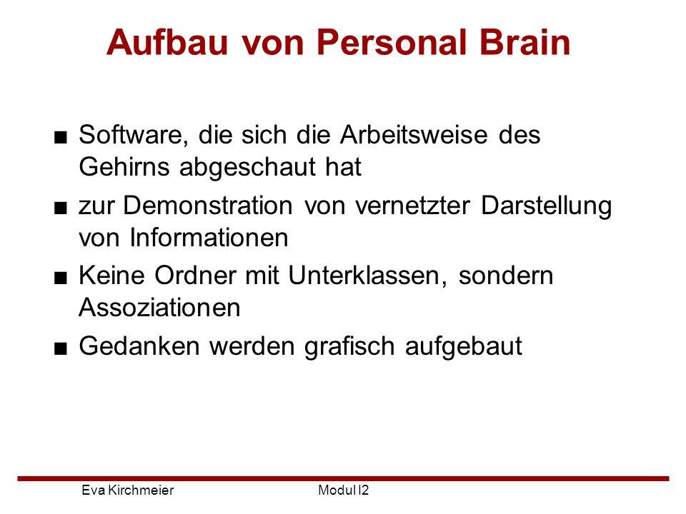 Aufbau von Personal Brain