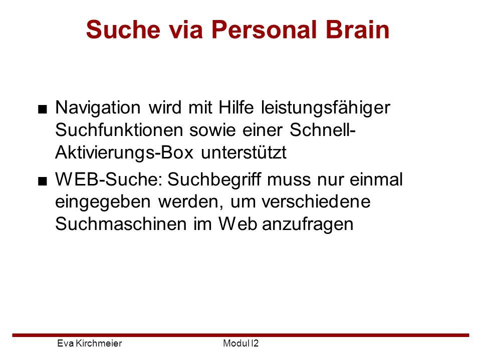 Suche via Personal Brain