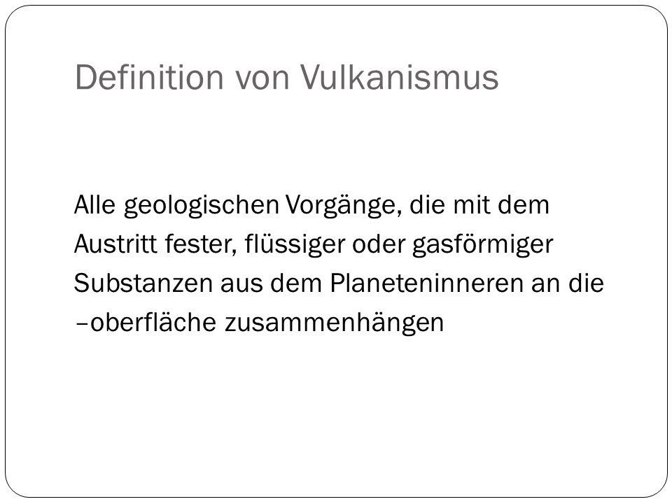 Definition von Vulkanismus