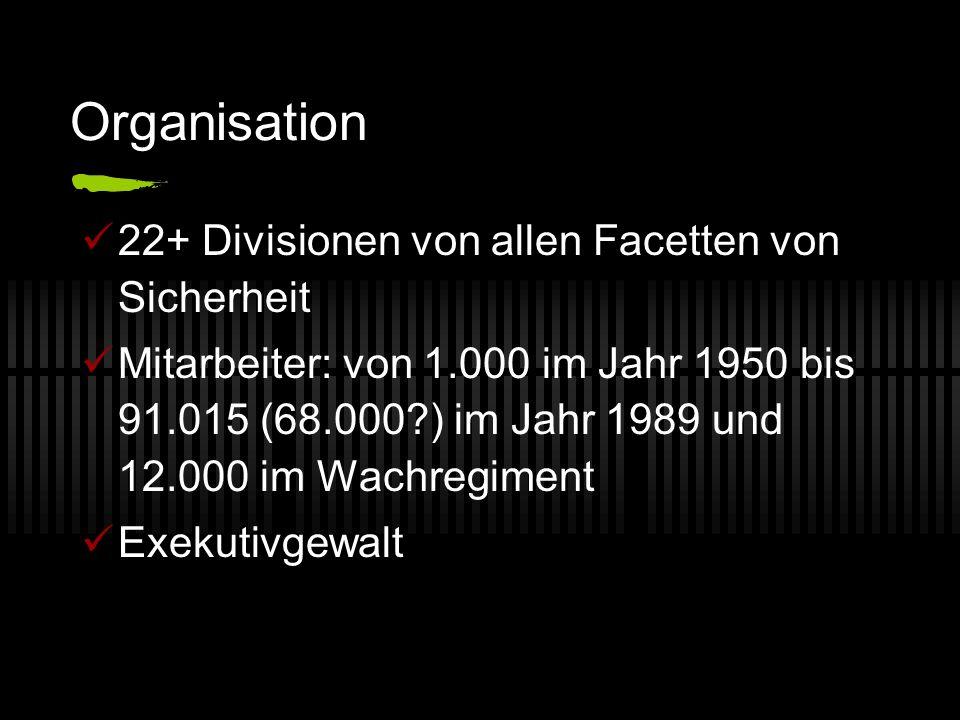 Organisation 22+ Divisionen von allen Facetten von Sicherheit