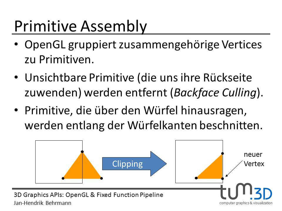 Primitive Assembly OpenGL gruppiert zusammengehörige Vertices zu Primitiven.