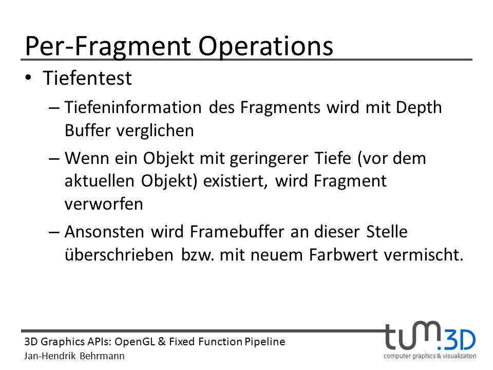 Per-Fragment Operations