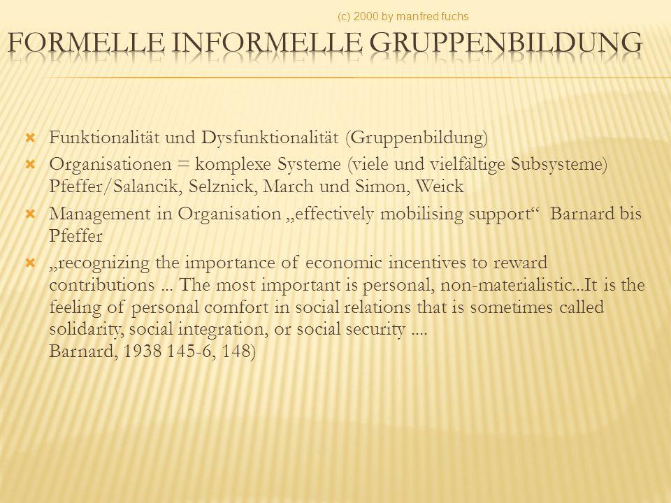 Formelle informelle Gruppenbildung