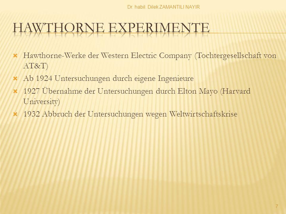 Hawthorne experimente