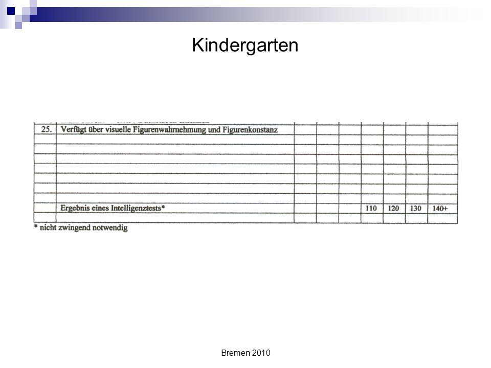 Kindergarten Bremen 2010