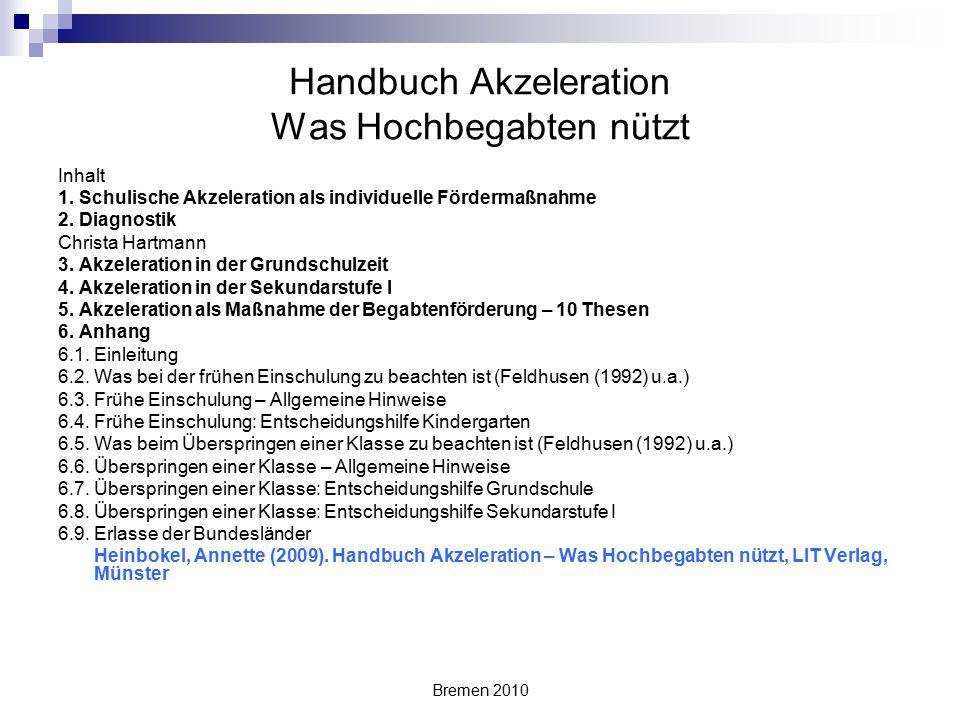 Handbuch Akzeleration Was Hochbegabten nützt