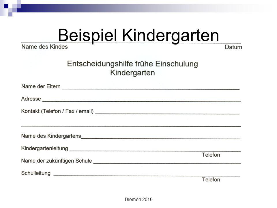Beispiel Kindergarten
