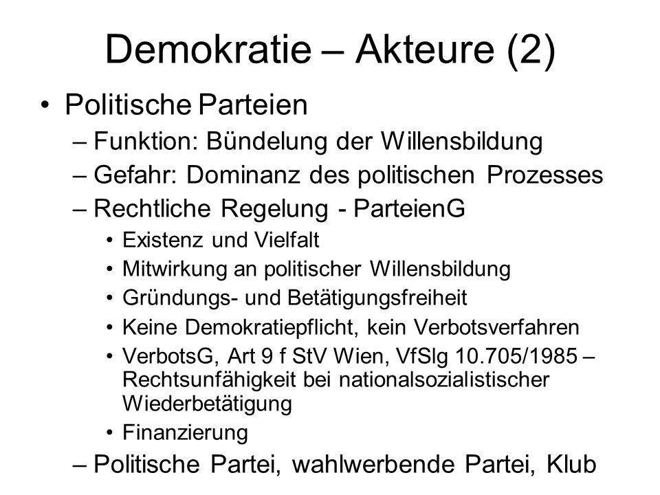 Demokratie – Akteure (2)