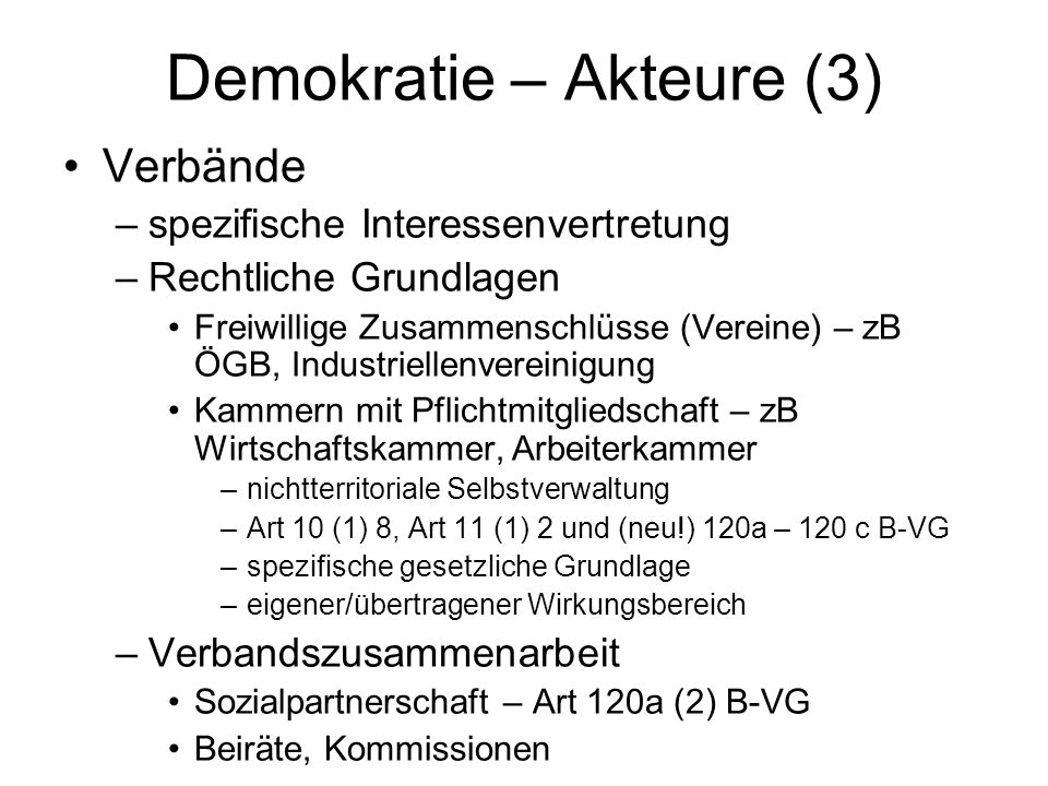 Demokratie – Akteure (3)
