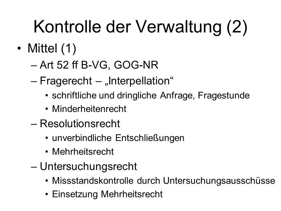 Kontrolle der Verwaltung (2)