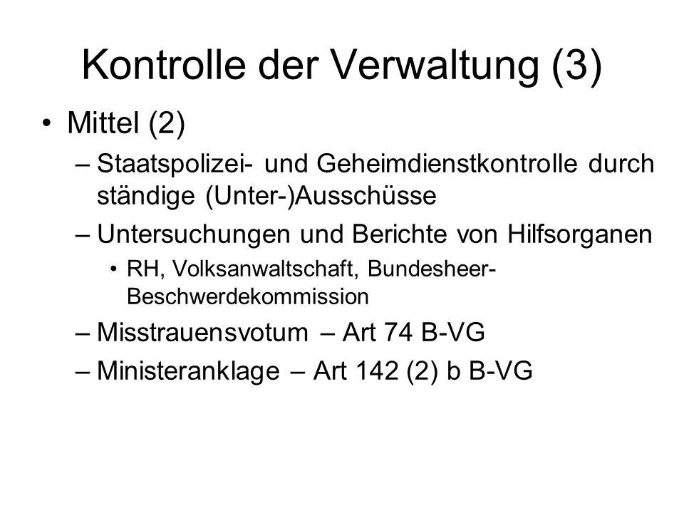 Kontrolle der Verwaltung (3)