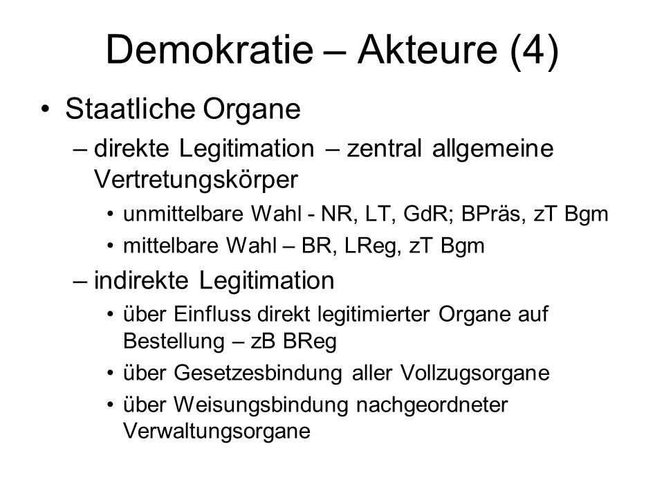 Demokratie – Akteure (4)