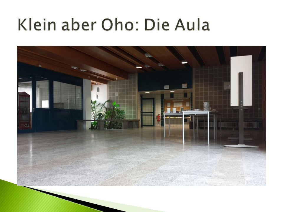Klein aber Oho: Die Aula