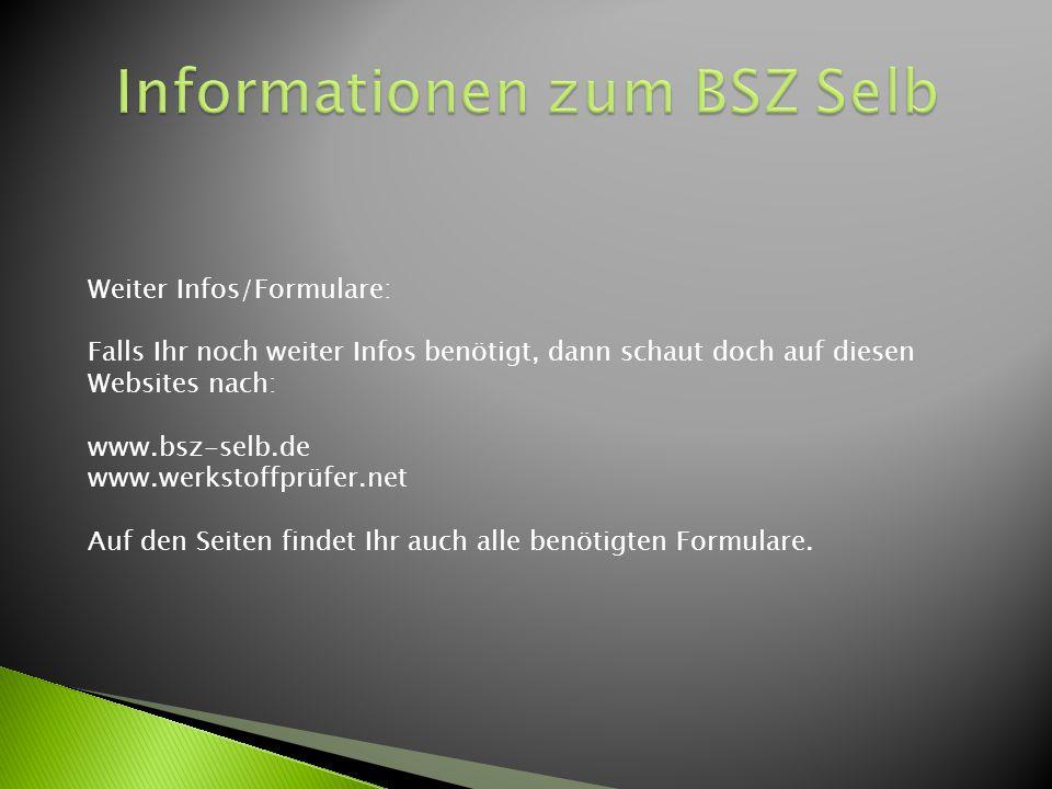 Informationen zum BSZ Selb