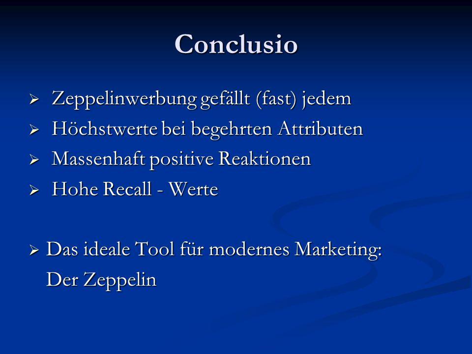 Conclusio Zeppelinwerbung gefällt (fast) jedem
