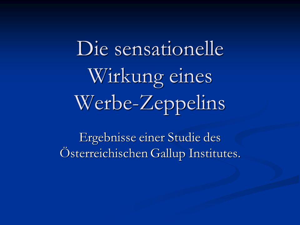 Die sensationelle Wirkung eines Werbe-Zeppelins