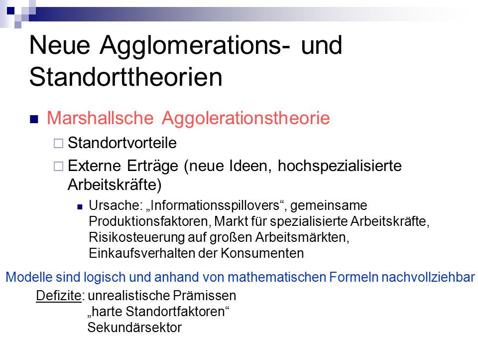 Neue Agglomerations- und Standorttheorien
