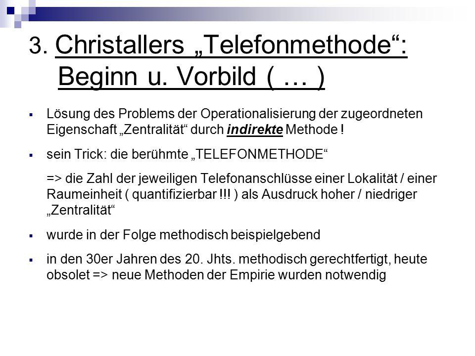"""3. Christallers """"Telefonmethode : Beginn u. Vorbild ( … )"""