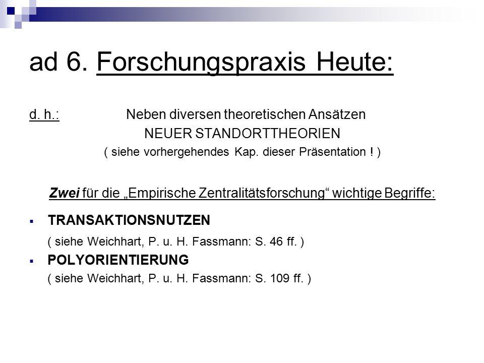 ad 6. Forschungspraxis Heute: