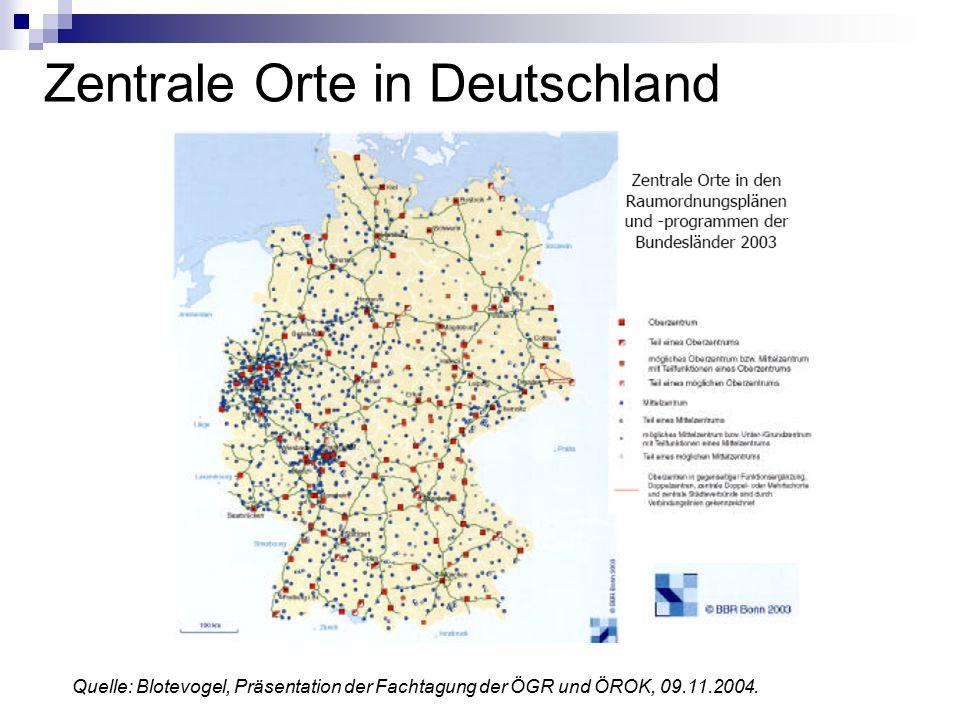 Zentrale Orte in Deutschland